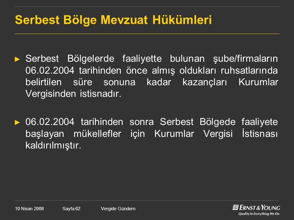 Vergide GündemSayfa 62 Serbest Bölge Mevzuat Hükümleri ► Serbest Bölgelerde faaliyette bulunan şube/firmaların 06.02.2004 tarihinden önce almış oldukl