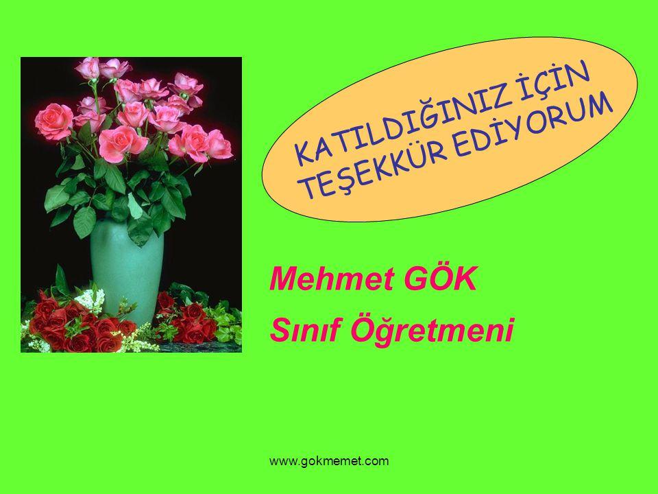 www.gokmemet.com KATILDIĞINIZ İÇİN TEŞEKKÜR EDİYORUM Mehmet GÖK Sınıf Öğretmeni
