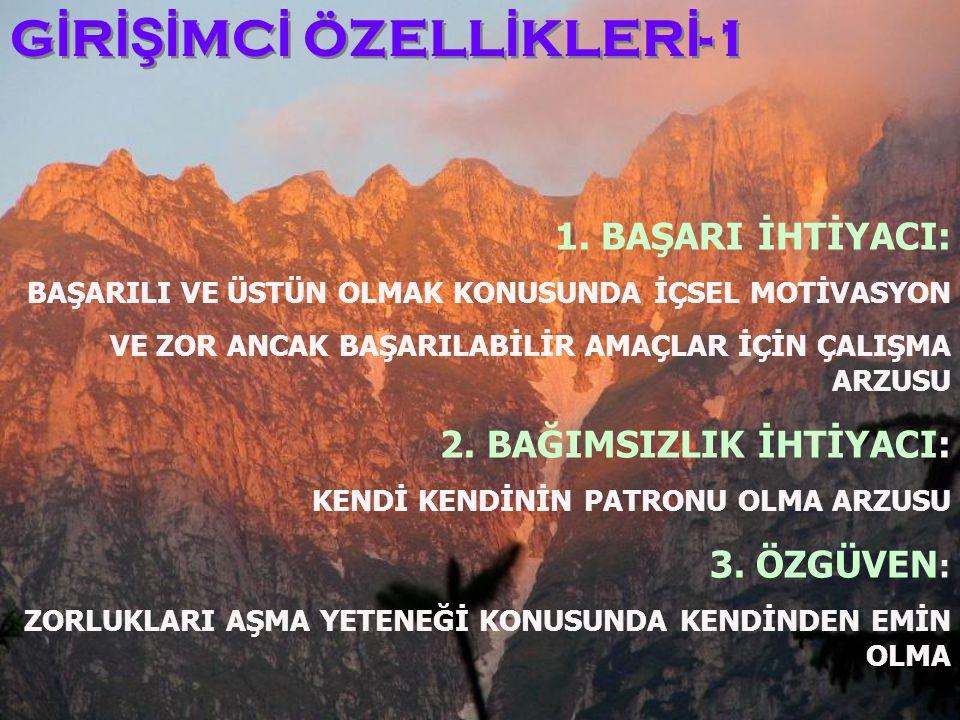 G İ R İŞİ MC İ ÖZELL İ KLER İ -1 1.