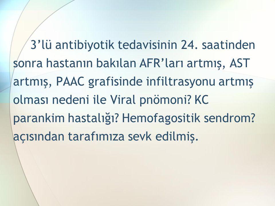 3'lü antibiyotik tedavisinin 24.