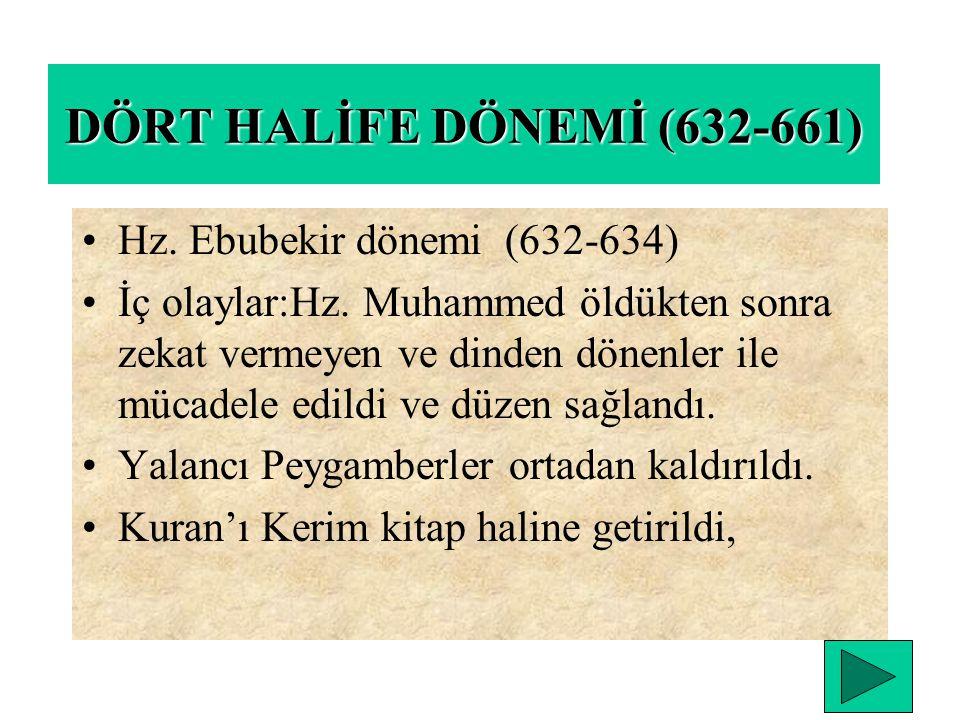TEBÜK SAVAŞI (631) Gassaniler müslüman oldular. Bu sefer arap yarımadasında siyasal birliğin siyasal birliğin sağlandığını gösterir Hz. Muhammedin son