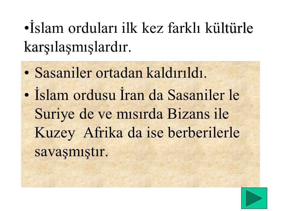 Hz. Ömer Dönemi (634-644 ) Ecnadin savaşıyla Suriye fethedilmiş; ilk kez Anadolu ya komşu olunmuştur. Kudüs ve Filistin alınmıştır. Müslümanlar ilk ke