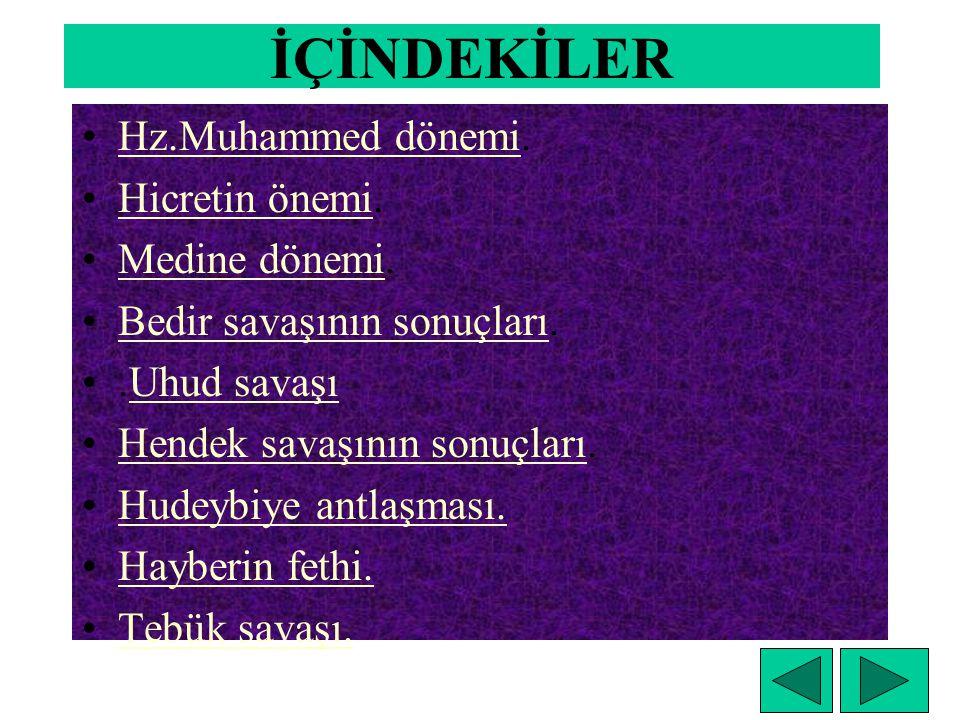 İpek yolunda Türkler HZ. MUHAMMED VE DÖRT HALİFE DEVRİ