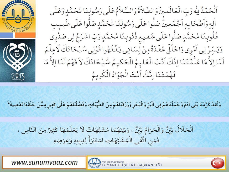 İnsanın mükerremliği Kur'an'ın beyanıyla sabittir.