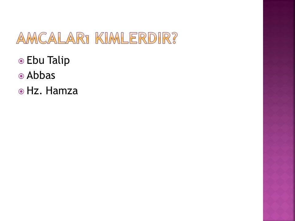  Ebu Talip  Abbas  Hz. Hamza