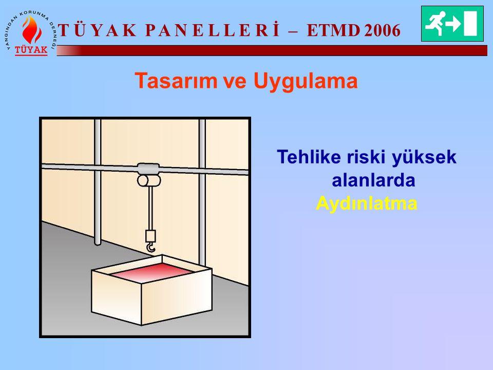 T Ü Y A K P A N E L L E R İ – ETMD 2006 Tasarım ve Uygulama Tehlike riski yüksek alanlarda Aydınlatma