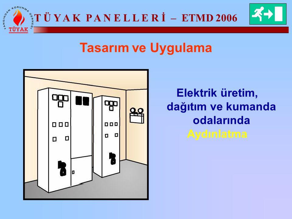 T Ü Y A K P A N E L L E R İ – ETMD 2006 Tasarım ve Uygulama Elektrik üretim, dağıtım ve kumanda odalarında Aydınlatma
