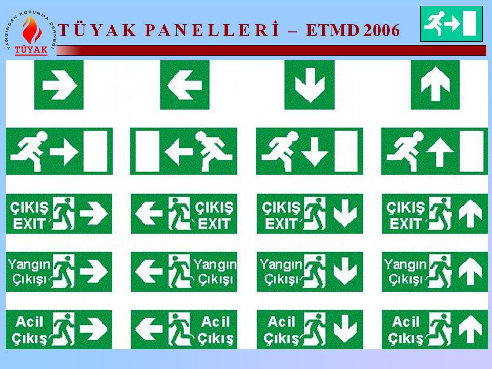 T Ü Y A K P A N E L L E R İ – ETMD 2006 Yönlendirme İşaretleri Açısından Uygulama Hataları
