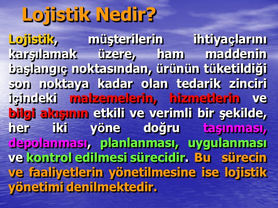 Türkiye'de lojistik LOJİSTİK PAZARINDA ÖNDE GELEN ŞİRKETLERİN CİROLARI 2004 ( 2007) LOJİSTİK PAZARINDA ÖNDE GELEN ŞİRKETLERİN CİROLARI 2004 ( 2007) O Lojistik: $ 215 milyon (370) O Lojistik: $ 215 milyon (370) H Lojistik: $ 205 milyon (300) H Lojistik: $ 205 milyon (300) B Lojistik: $ 136 milyon (180) B Lojistik: $ 136 milyon (180) R Lojistik: $ 126 milyon R Lojistik: $ 126 milyon M Lojistik:$ 107 milyon M Lojistik:$ 107 milyon E Lojistik $ 100 milyon (160) E Lojistik $ 100 milyon (160) S Lojistik: $ 90 milyon S Lojistik: $ 90 milyon B Lojistik: $ 83 milyon B Lojistik: $ 83 milyon LOJİSTİK PAZARINDA ÖNDE GELEN ŞİRKETLERİN CİROLARI 2004 ( 2007) LOJİSTİK PAZARINDA ÖNDE GELEN ŞİRKETLERİN CİROLARI 2004 ( 2007) O Lojistik: $ 215 milyon (370) O Lojistik: $ 215 milyon (370) H Lojistik: $ 205 milyon (300) H Lojistik: $ 205 milyon (300) B Lojistik: $ 136 milyon (180) B Lojistik: $ 136 milyon (180) R Lojistik: $ 126 milyon R Lojistik: $ 126 milyon M Lojistik:$ 107 milyon M Lojistik:$ 107 milyon E Lojistik $ 100 milyon (160) E Lojistik $ 100 milyon (160) S Lojistik: $ 90 milyon S Lojistik: $ 90 milyon B Lojistik: $ 83 milyon B Lojistik: $ 83 milyon En Büyük Ciro Potansiyelin % 0,9 u