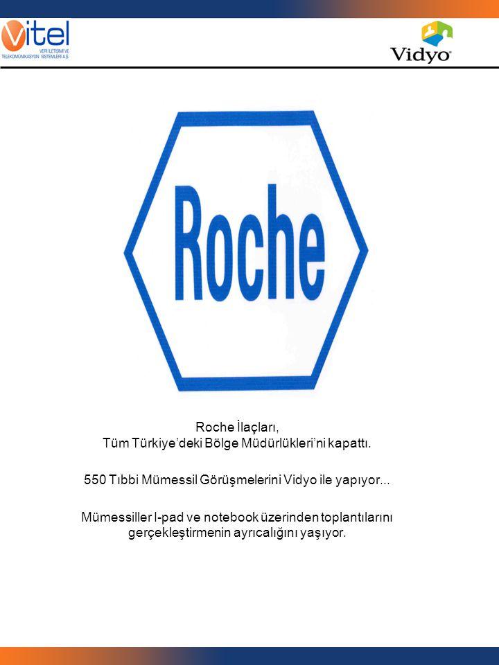 Roche İlaçları, Tüm Türkiye'deki Bölge Müdürlükleri'ni kapattı. 550 Tıbbi Mümessil Görüşmelerini Vidyo ile yapıyor... Mümessiller I-pad ve notebook üz