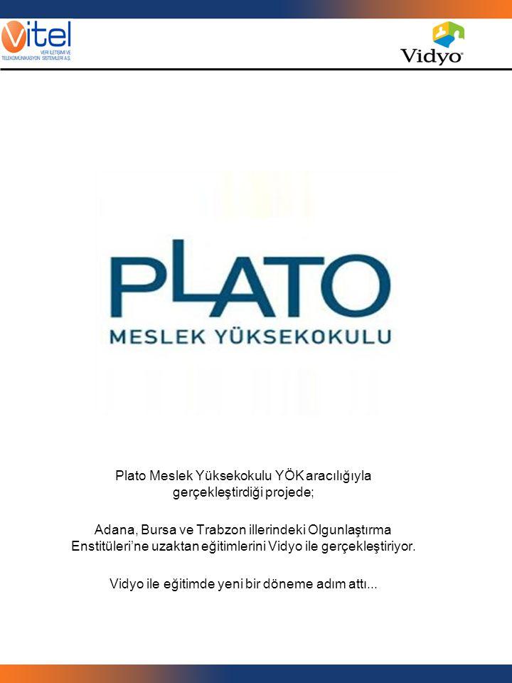 Plato Meslek Yüksekokulu YÖK aracılığıyla gerçekleştirdiği projede; Adana, Bursa ve Trabzon illerindeki Olgunlaştırma Enstitüleri'ne uzaktan eğitimler