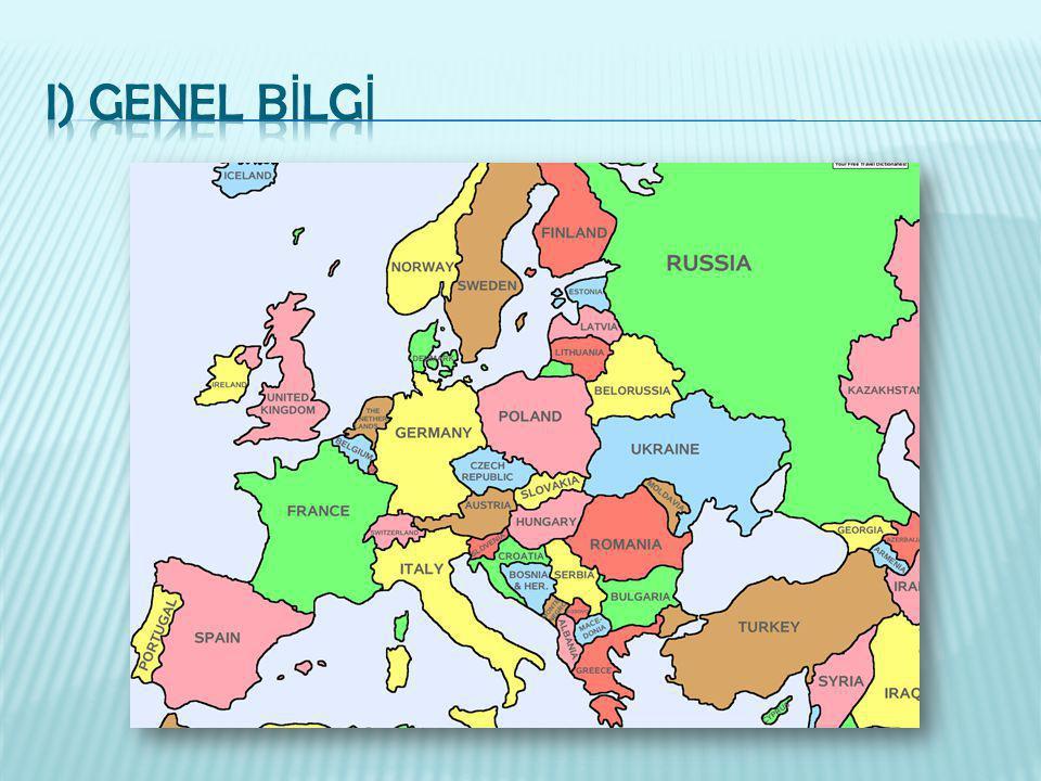  Tam adı: Almanya Federal Cumhuriyeti  Ba ş kenti: Berlin  Resmi dili: Almanca  Nüfus: 82 Milyon(%8.8 yabancı)  Para birimi: Euro  Co ğ rafi özellikler: Orta Avrupa' da yer alır.