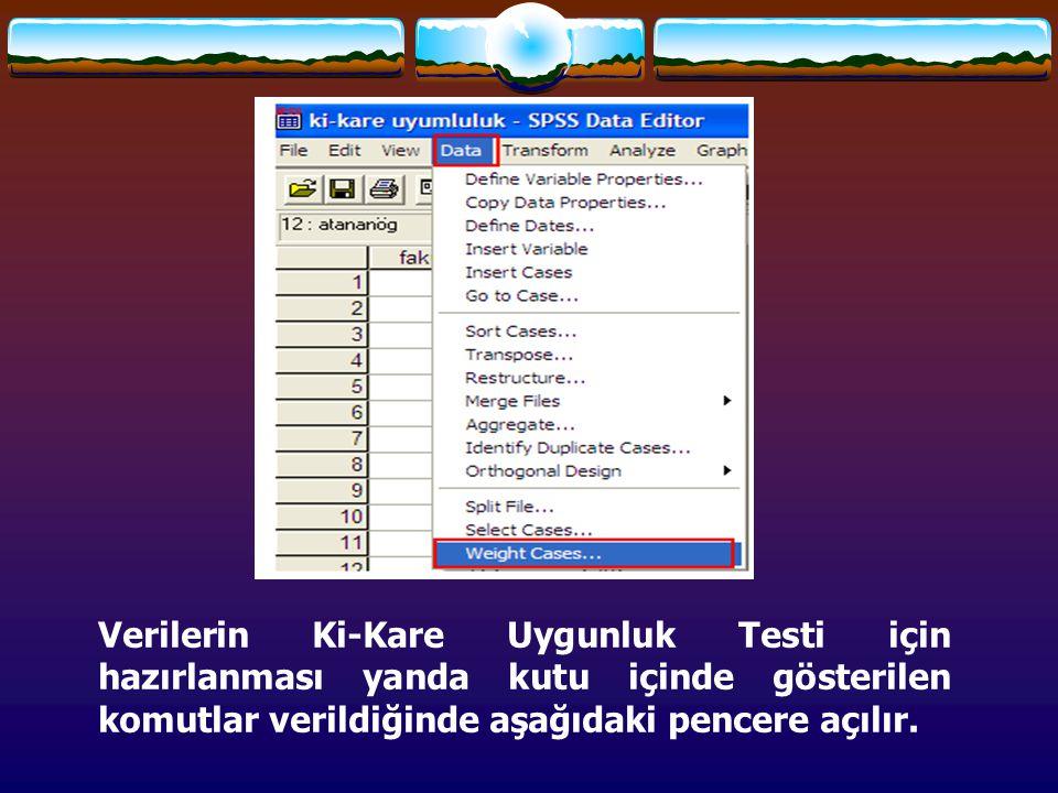 Ki-Kare Bağımsızlık Testi Bu şekilde çapraz sınıflandırma, herhangi bir sıradaki elemanla, sütundaki eleman arasındaki ilişkinin (bağımlılığı yada bağımsızlığın) incelenmesi amacıyla yapılır.