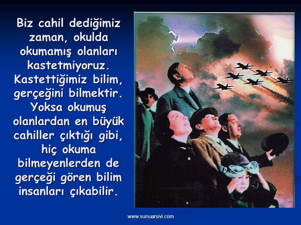 www.sunuarsivi.com Arkadaşlar, efendiler ve ey millet, iyi biliniz ki, Türkiye Cumhuriyeti şeyhler, dervişler, müritler, meczuplar memleketi olamaz. E