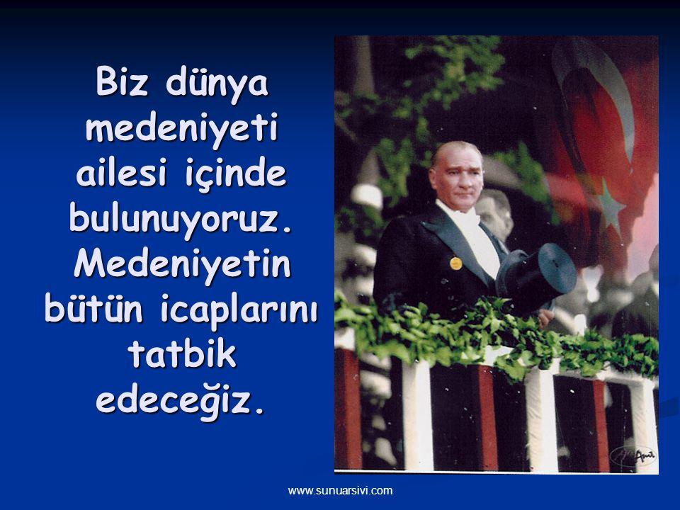 www.sunuarsivi.com Süngülerle, silahlarla ve kanla kazandığımız askeri zaferlerden sonra, kültür, bilim, fen ve ekonomi alanlarında da zaferler kazanmaya devam edeceğiz.