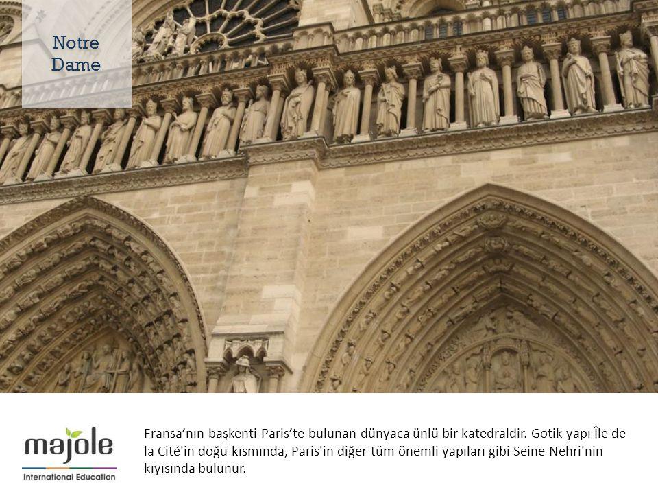 Fransa'nın başkenti Paris'te bulunan dünyaca ünlü bir katedraldir.