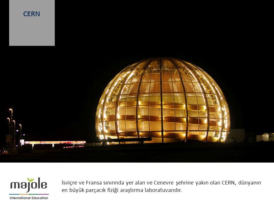 İsviçre ve Fransa sınırında yer alan ve Cenevre şehrine yakın olan CERN, dünyanın en büyük parçacık fiziği araştırma laboratuvarıdır.