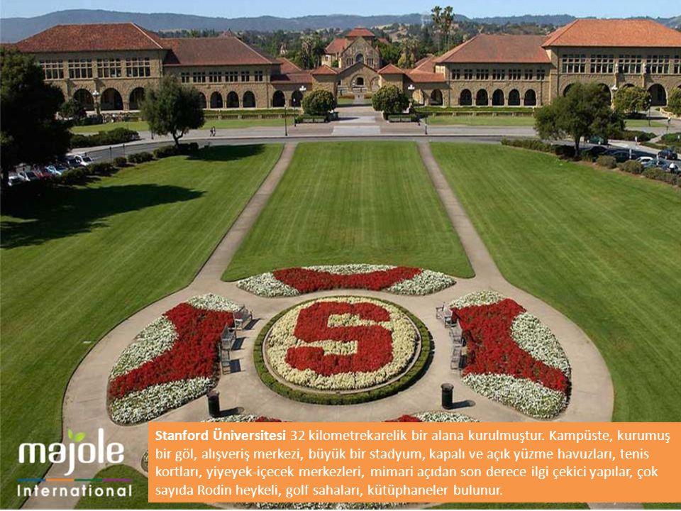 Stanford Üniversitesi 32 kilometrekarelik bir alana kurulmuştur. Kampüste, kurumuş bir göl, alışveriş merkezi, büyük bir stadyum, kapalı ve açık yüzme