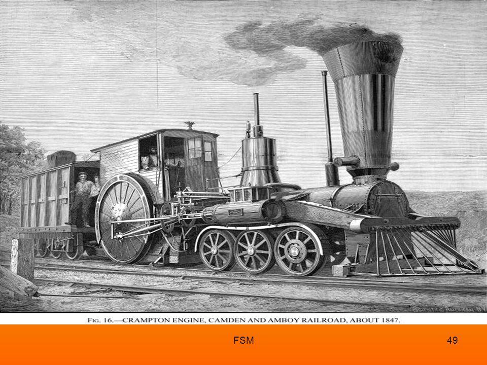 FSM48 Tren, dünyada ilk kez 1800'lü yılların başında, İngiltere'de kullanılmayaİngiltere başlanmıştır. TREN
