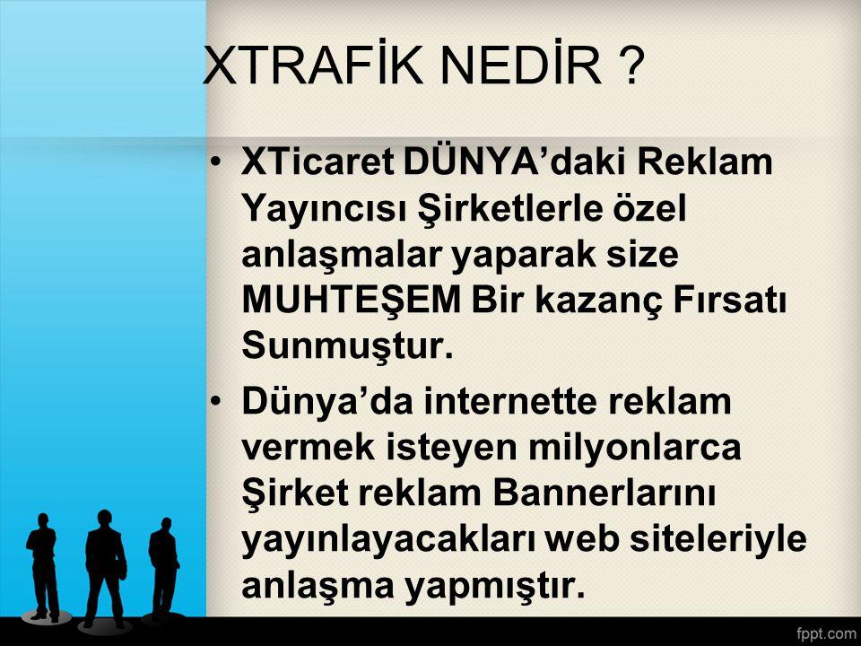 XTİcaret Farkı İşte bu noktada XTicaret'in Muhteşem Fırsatı Ortaya Çıkıyor Reklam ağlarında banner alanları kiralayarak bu alanlardan elde edilecek gelirleri Xortaklarıyla paylaşmaktadır.