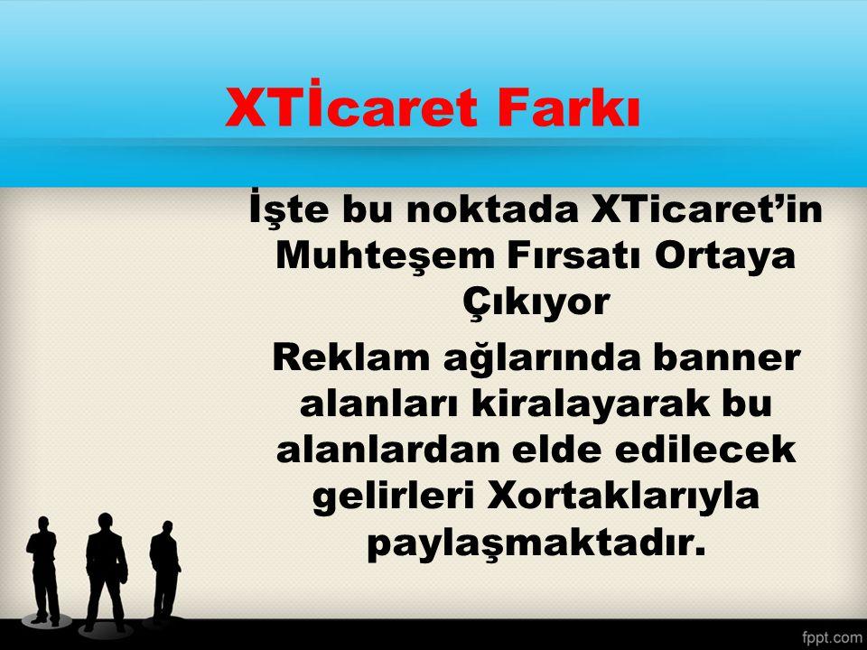 Bunun gibi yüzlerce sitede Xticarete ait reklam alanları var… Bu alanlardan elde edilecek gelir bir havuzda toplanıyor ve XOrtakların alması için bekliyor….