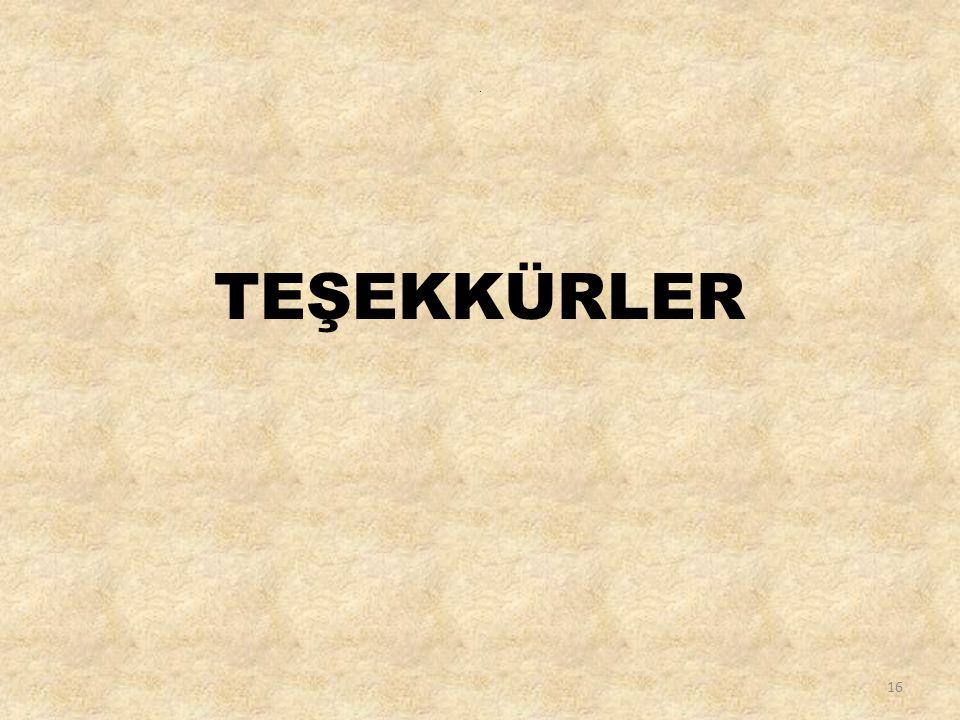 . TEŞEKKÜRLER 16