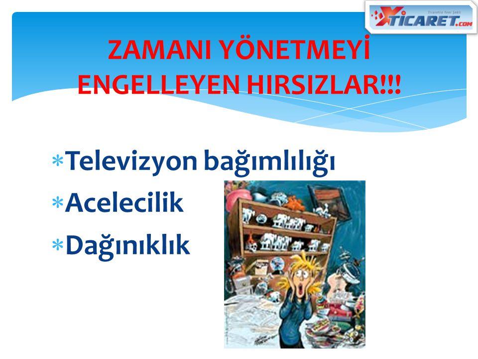  Televizyon bağımlılığı  Acelecilik  Dağınıklık ZAMANI YÖNETMEYİ ENGELLEYEN HIRSIZLAR!!!