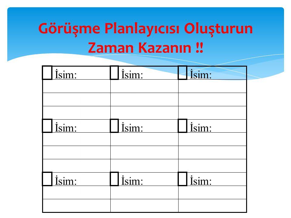 Görüşme Planlayıcısı Oluşturun Zaman Kazanın !!