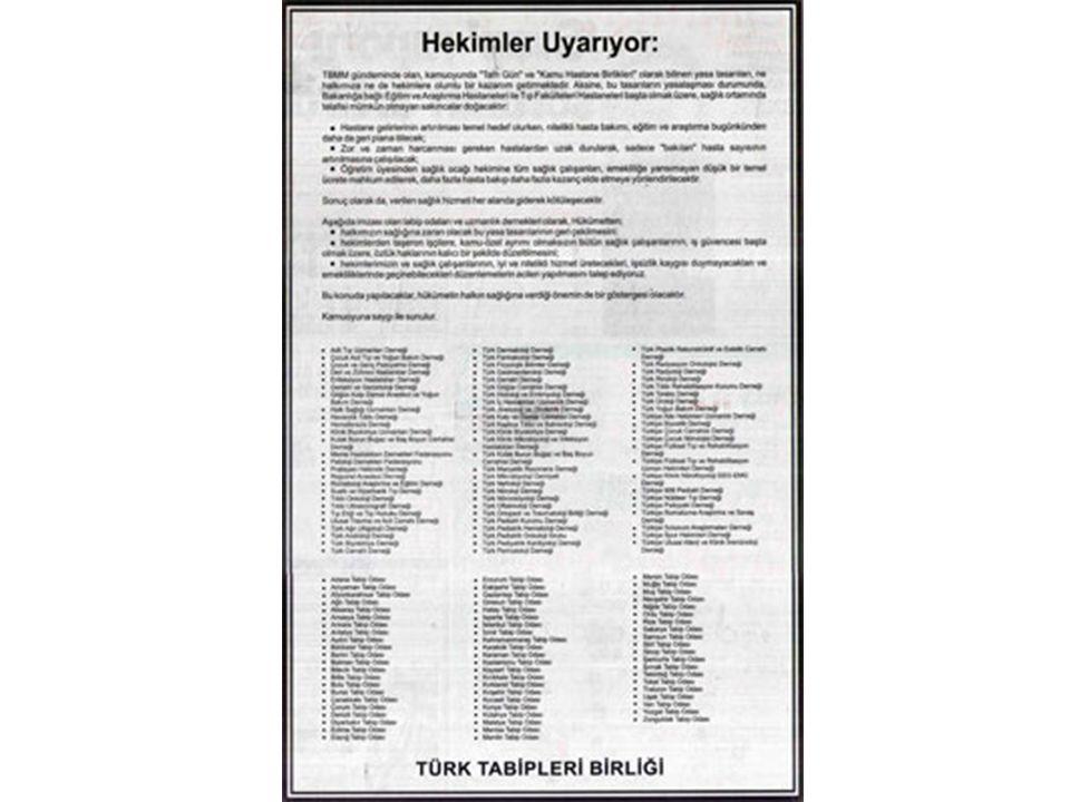 EK ÖDEME Madde 10: 209 Sayılı Sağlık Ve Sosyal Yardım Bakanlığına Bağlı Sağlık Kurumları İle Esenlendirme (Rehabilitasyon) Tesislerine Verilecek Döner Sermaye Hakkında Kanun'un 5.