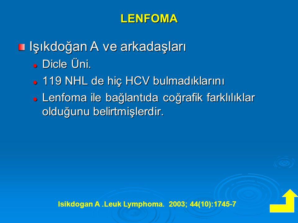 LENFOMA Işıkdoğan A ve arkadaşları Dicle Üni.Dicle Üni.