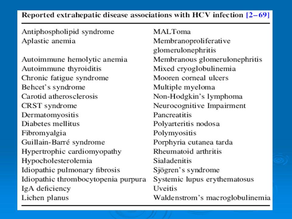 HCV- ilişkili Sjögren sendromu HCV hepatotroph, lenfotroph ve sialotroph bir virüsdür.