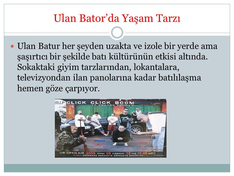 Ulan Bator'da Hayat Çok fazla trafik var, Eylül ayında bile hava kirliliği dikkat çekici düzeyde.
