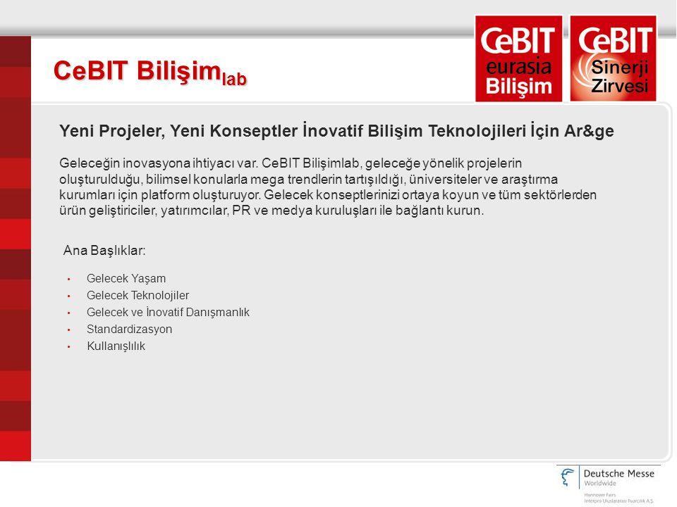 CeBIT Bilişim lab Yeni Projeler, Yeni Konseptler İnovatif Bilişim Teknolojileri İçin Ar&ge Geleceğin inovasyona ihtiyacı var.