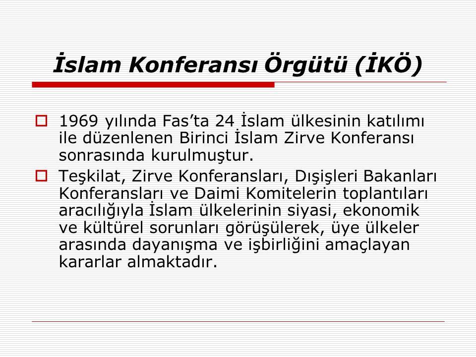  1969 yılında Fas'ta 24 İslam ülkesinin katılımı ile düzenlenen Birinci İslam Zirve Konferansı sonrasında kurulmuştur.  Teşkilat, Zirve Konferanslar