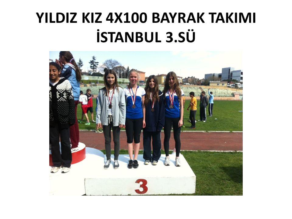 YILDIZ KIZ 4X100 BAYRAK TAKIMI İSTANBUL 3.SÜ