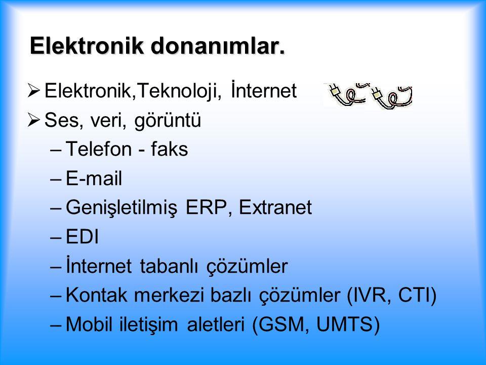 Elektronik donanımlar.