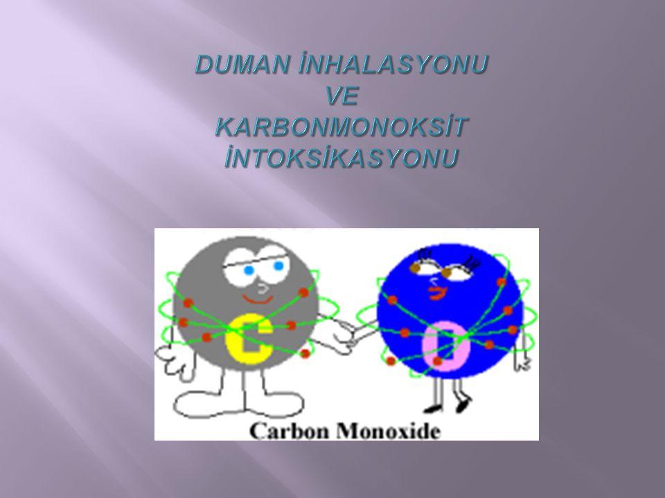  COHb düzeyi  Normal % 0-5  Sigara içenlerde % 6-10  Co-oksimetre, spektrofotometrik yöntem  CoHb düzeyi belirlenir  Pulse-oksimetre ile CoHb yanlış yorumlanabilir.