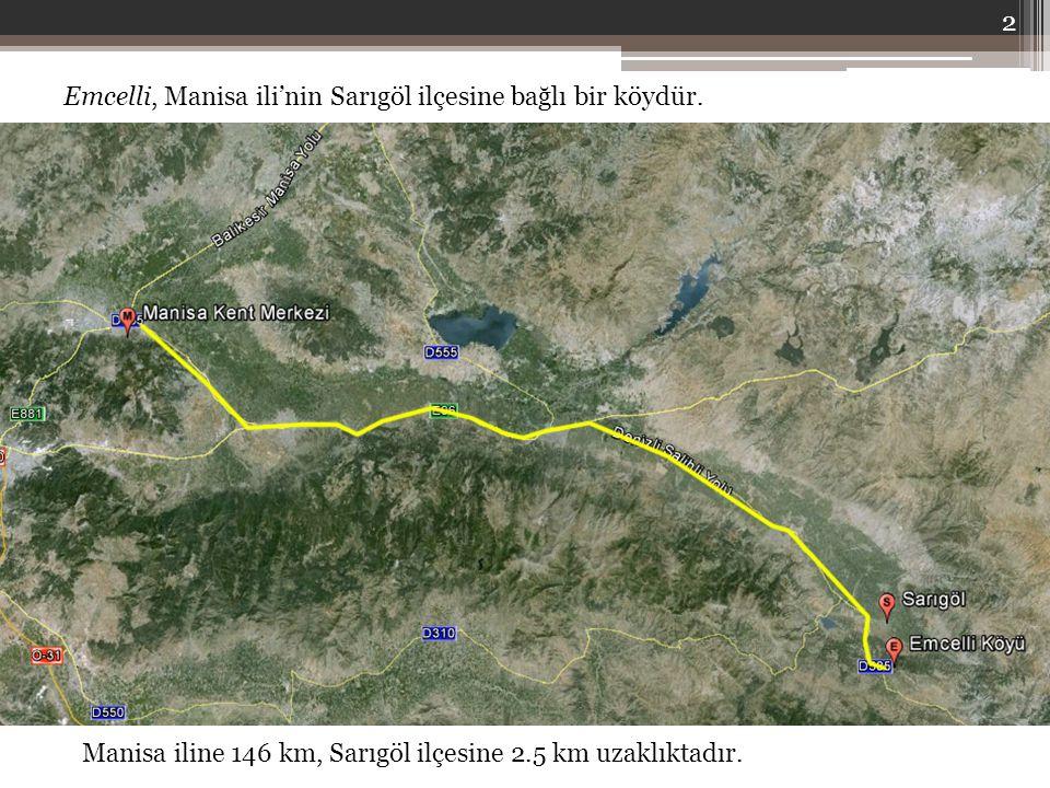 Emcelli, Manisa ili'nin Sarıgöl ilçesine bağlı bir köydür. Manisa iline 146 km, Sarıgöl ilçesine 2.5 km uzaklıktadır. 2