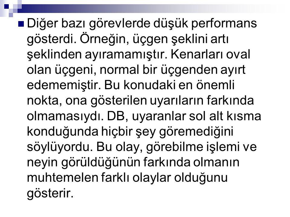 Görev yönergeleri aynı zamanda ihmal hastalarının performanslarını da etkileyebilir (Baylis ve diğerleri 2004).