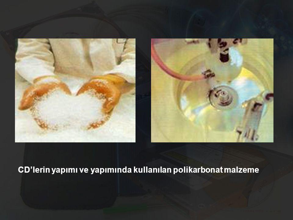 CD'lerin yapımı ve yapımında kullanılan polikarbonat malzeme