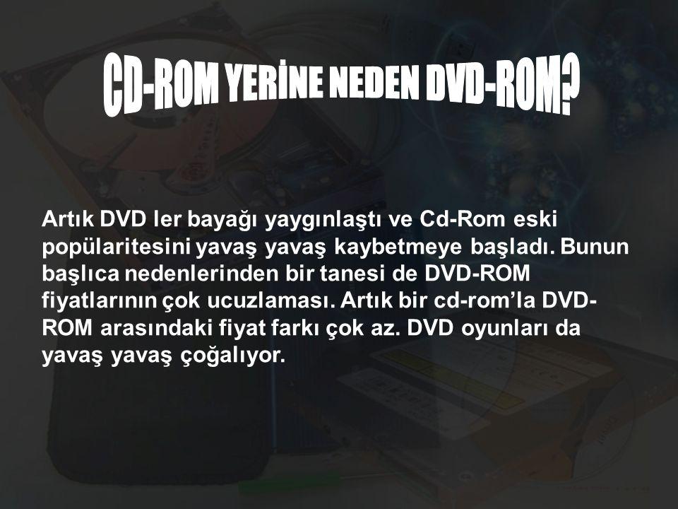 Artık DVD ler bayağı yaygınlaştı ve Cd-Rom eski popülaritesini yavaş yavaş kaybetmeye başladı.