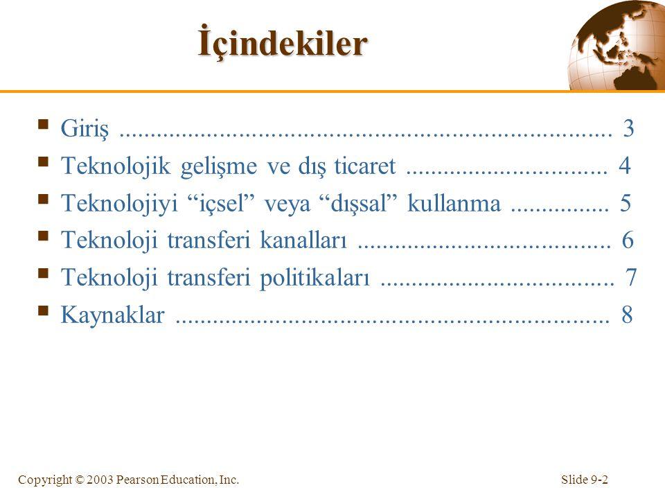 Slide 9-3Copyright © 2003 Pearson Education, Inc.