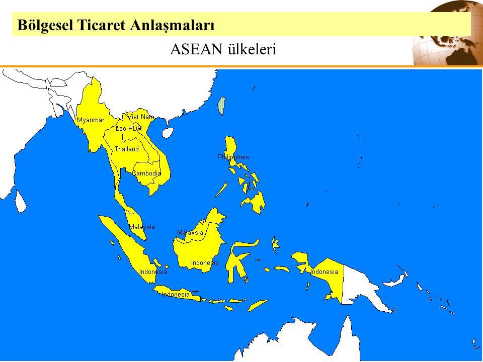 Slide 9-26Copyright © 2003 Pearson Education, Inc. Bölgesel Ticaret Anlaşmaları ASEAN ülkeleri