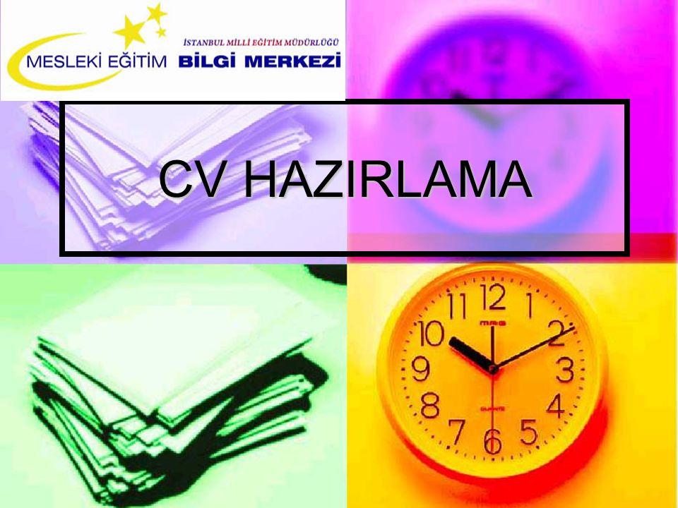 CV HAZIRLAMA