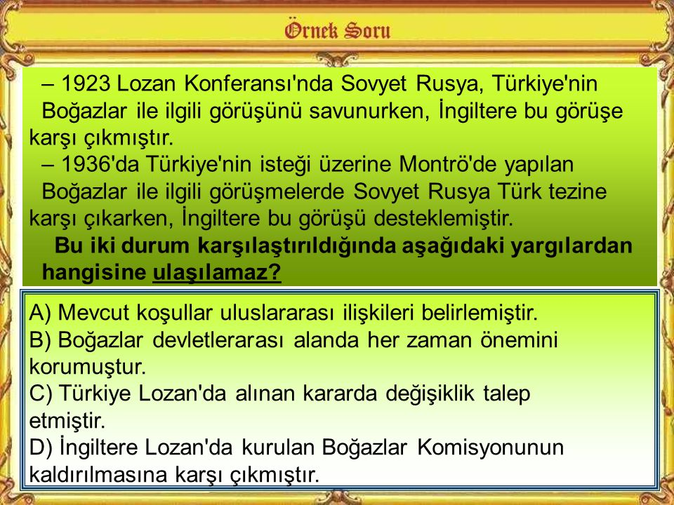 Türkiye'nin taleplerini haklı gören milletler cemiyeti 20 Temmuz 1936'da İsviçre'nin Montrö kentinde toplanarak boğazlar konusunu incelemeye başladı B