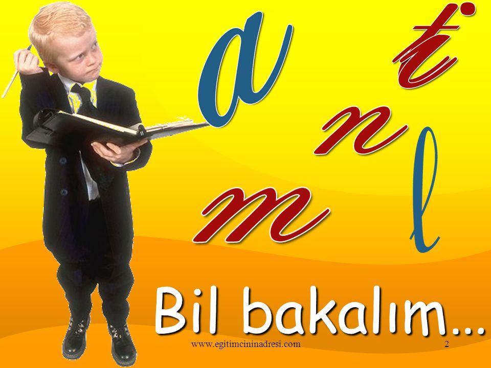 1.Sınıf Türkçe 1www.egitimcininadresi.com