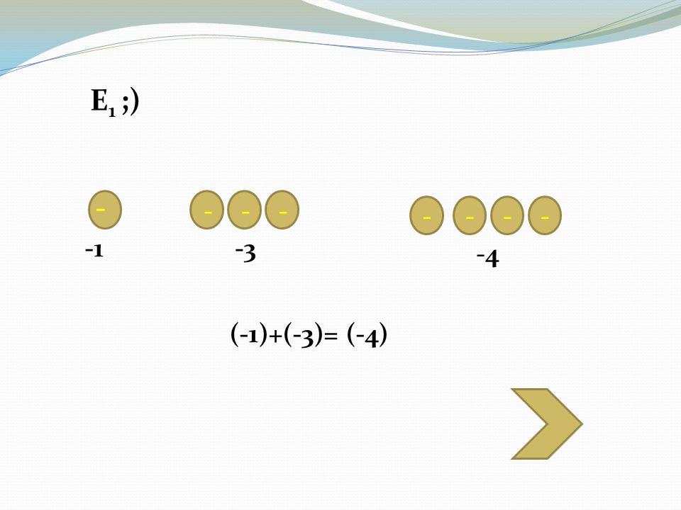 - - - - ---- -3 -4 (-1)+(-3)= (-4) E 1 ;)