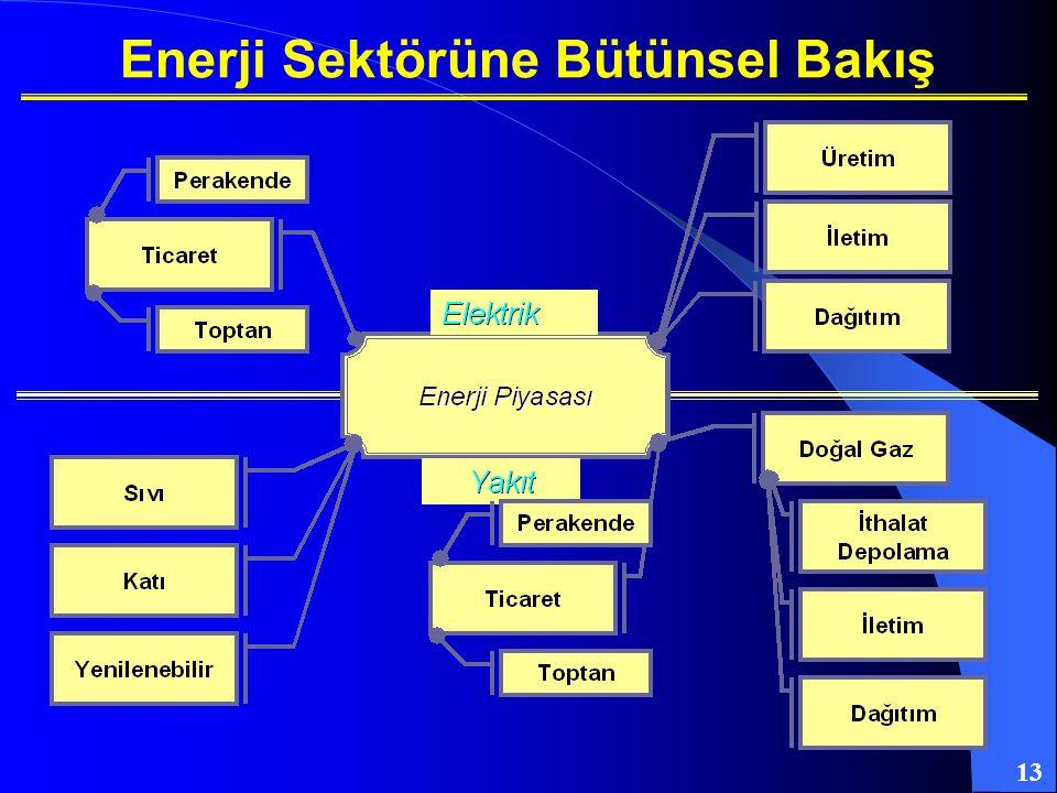 13 Enerji Sektörüne Bütünsel Bakış