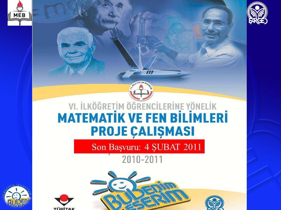 EĞİTİM - ÖĞRETİM YILI KAPSAM BAŞVURU SAYISI BÖLGELERDE SERGİLENEN PROJE SAYISI FİNALDE SERGİLENEN PROJE SAYISI 2004 İstanbul (Pilot Uygulama) 2.794-133 2005-2006 KOCAELİ'NİN DAHİL OLDUĞU 30 İL 5.116741100 2006-200781 İL13.922959100 2007-200881 İL18.313902100 2008-200981 İL31.8861045100 2009-201081 İL33.2641004100 2004-2010 Proje Uygulama (Özet)
