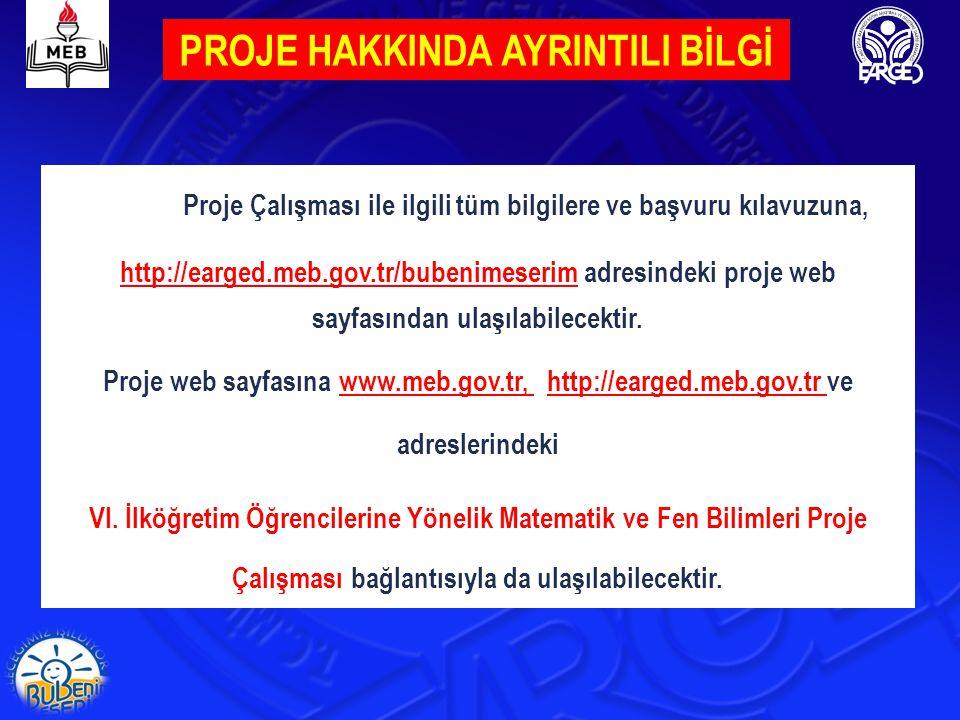 PROJE ÇALIŞMALARI SIRASINDA DİKKAT EDİLECEK NOKTALAR 1.